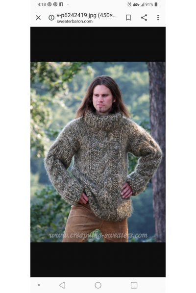 Custom request for a chunky mohair sweater