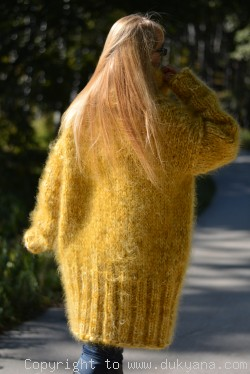 Chunky Unisex huge Tneck mohair sweater
