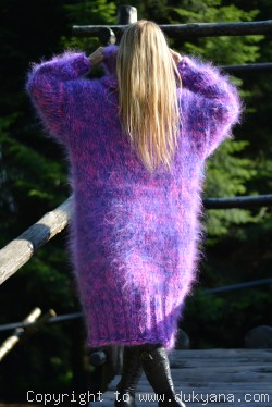 Chunky and silky huge Tneck mohair sweater