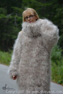 On request Chunky and silky huge Tneck mohair sweater