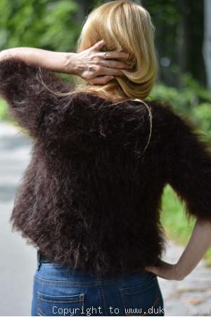 Fuzzy handmade mohair bolero