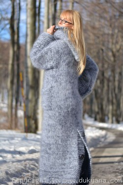 On request Hand knitted chunky mohair cardigan