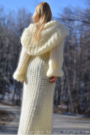 Slouchy mohair shrug in custom colour