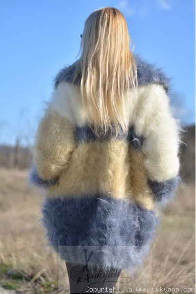 Chunky mohair cardigan three colours