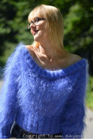 Cropped summer mohair sweater