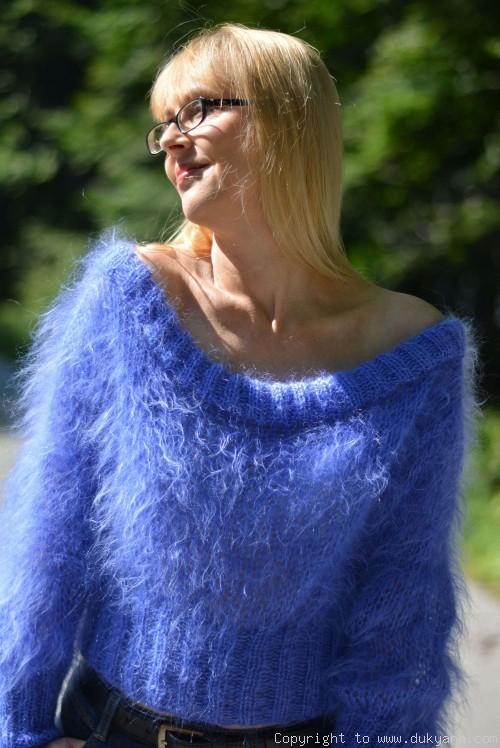 On request Cropped summer mohair sweater