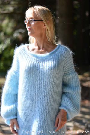Mint fine mohair sweaterdress in One size