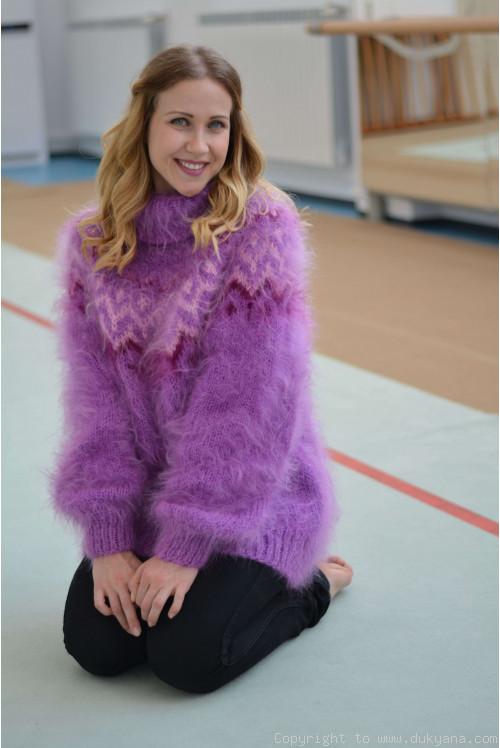 Violet Icelandic mohair sweater