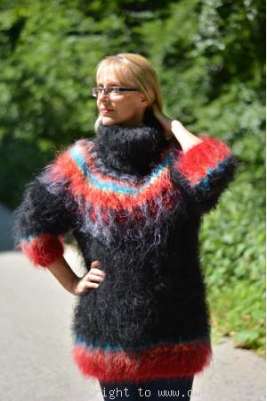 Black Icelandic mohair sweater