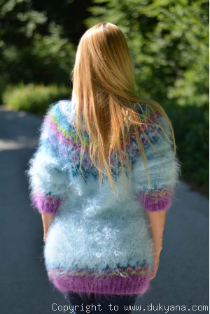 Mint Icelandic mohair sweater
