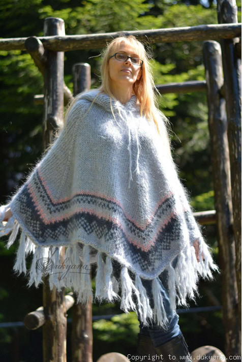 Plus size available Mohair poncho in 22 colors