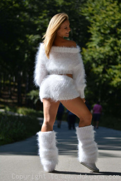 3-piece mohair set in snow white