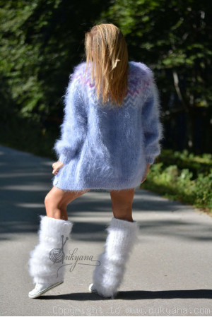 Four-piece fuzzy mohair set
