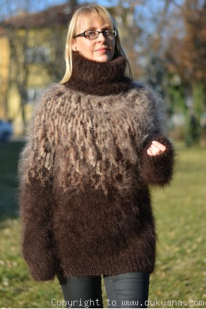Knitted Icelandic mens sweater made from mohair