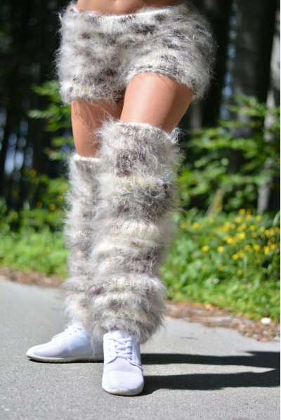 Fuzzy and soft handmade leggings