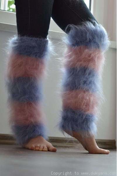 Fuzzy and soft handmade leggings