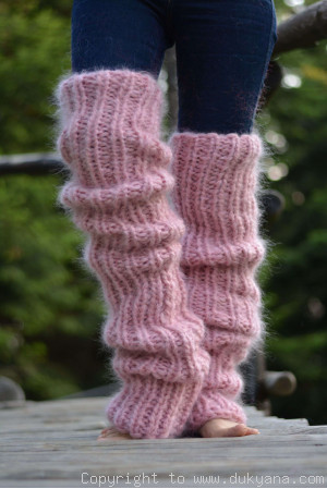Chunky and thick huge mohair legwarmers