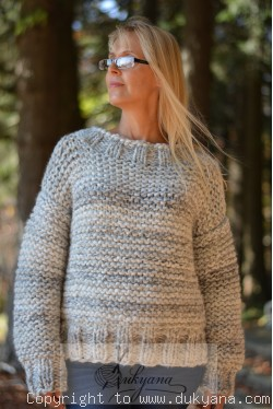 Custom order for a Tneck chunky wool sweater in size S