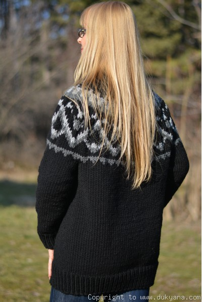 On request wool blend Icelandic mens T-neck soft sweater