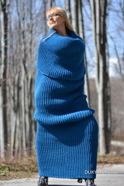 On request  wool tube scarf in cerulean blue