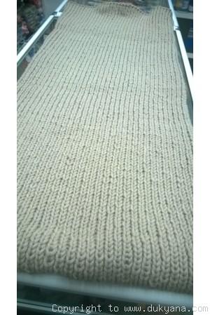 Wool huge tube scarf in beige